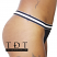 """Rene Rofe """"Out of Touch"""" Thong Underwear - P127074-BLK - Side View"""