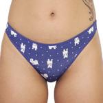Rene Rofe Cotton Spandex Thong - 12206-J331 Panty Panties Underwear