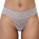 Rene Rofe It Girl 'Daily Basis' Thong - 124210-GRY Panty Panties Lace Underwear