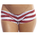 Body Zone American Pot Scrunch Back Super Micro Shorts - AP008