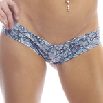 Body Zone Lace Print Scrunch Back Super Micro Shorts - LP008