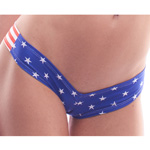 Body Zone Patriotic Scrunch Back Super Micro Shorts - PA181244 - 3 Prints Available