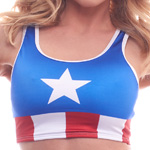 Body Zone Patriotic Crop Top - PA181609 | 6 Prints Available