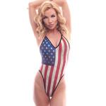 Body Zone Patriotic High Hip Bodysuit - PA181822 | 7 Prints Available