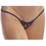 Body Zone Reversible Skulls Tiny Low Back Tee Thong - RS001