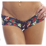 Body Zone Reversible Skulls Super Micro Shorts - RS007