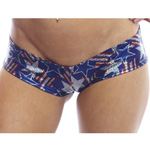 Body Zone Spangled Stars Super Micro Shorts - SS007