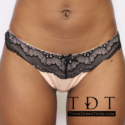 Rene Rofe It Girl Lace Detail Thong - 125169-SNDB Panty Panties Underwear