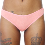 Rene Rofe Cotton Spandex Thong - 12206 - 4 Heather Colors Panties Underwear