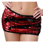Body Zone Flip Sequins Tube Skirt - 1730FSRB