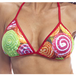 Body Zone Reversible Candy Tri Top - RC010