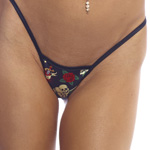 Body Zone Reversible Skulls Low Back Tee Thong - RS002